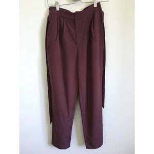 Forever 21 Maroon belted trousers size small